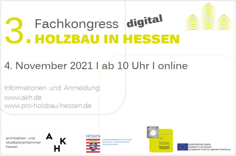 Ankündigung_Fachkongress Holzbau in Hessen 2021